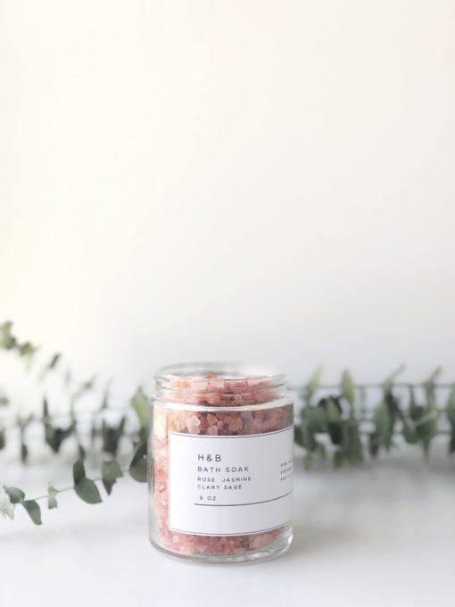 Bath Soak. Bath Salts. Essential Oils. Rose. Jasmine. Clary Sage. Gift. Aromatherapy. Bath&Body. Shophnb. Pink Himalayan Salt. Coconut Milk